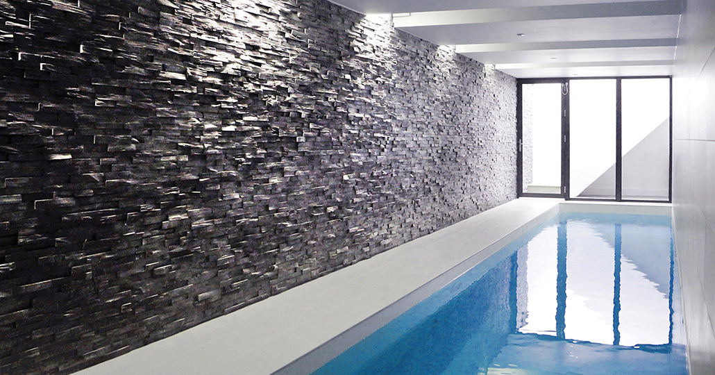 Camden house polypool for Basement swimming pool ideas