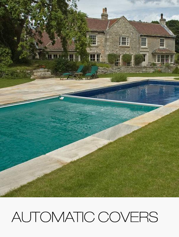 Automatic covers for swimming pools